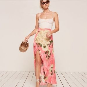 NWOT Reformation Lucia Floral Wrap Maxi-Skirt